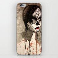 sugar skull iPhone & iPod Skins featuring sugar skull  by Joedunnz
