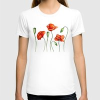 poppies T-shirts featuring Poppies by Julia Badeeva