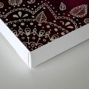 Wine Mandala Canvas Print