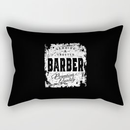 Genuine and Trusted Barber Job Title Gift Rectangular Pillow