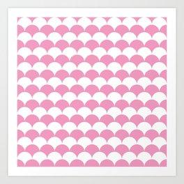 Light Pink Clamshell Pattern Art Print