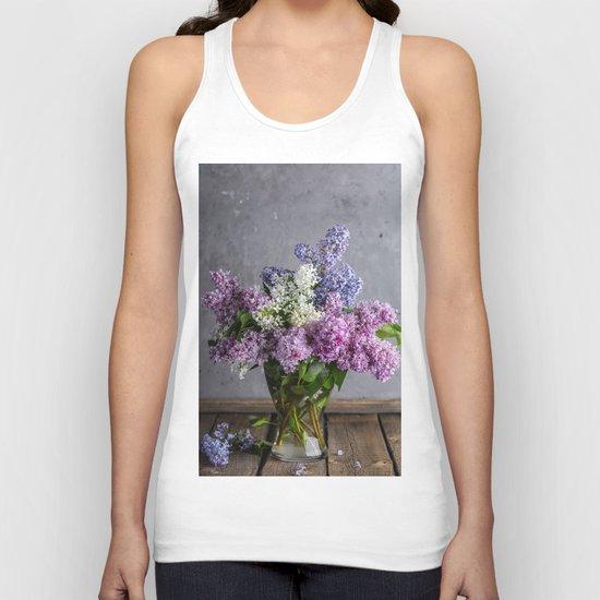 lilac bouquet Unisex Tank Top