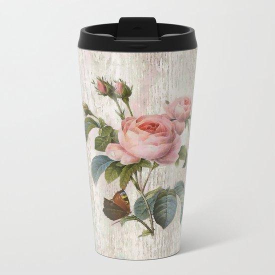 Roses Nostalgie Metal Travel Mug