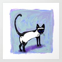 Cat Tocks Art Print