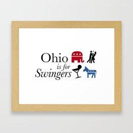 Ohio is for Swingers Framed Art Print