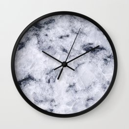 Crystal White Marble Wall Clock