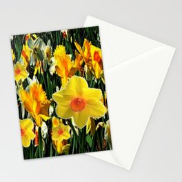 GOLDEN ORANGE YELLOW SPRING DAFFODILS Stationery Cards