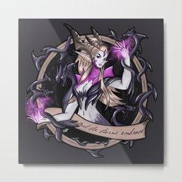 Sorceress Dragon Zyra Metal Print