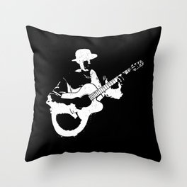 Musician playing Throw Pillow