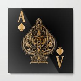 Spades Poker Ace Casino Metal Print