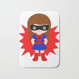 Superhero woman Bath Mat