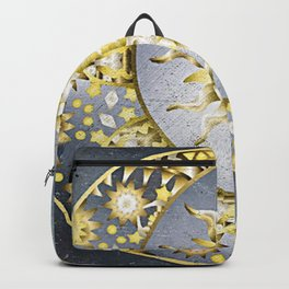 Golden Moon and Sun Backpack