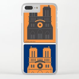 no[jo]tre dame Clear iPhone Case