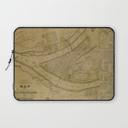 Map Of Pittsburgh 1830 Laptop Sleeve