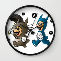 Super Totoro Bros. Wall Clock