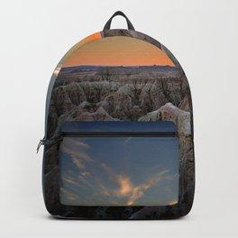 South Dakota Sunset - Dusk in the Badlands Backpack