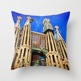 Sagrata Familia Throw Pillow