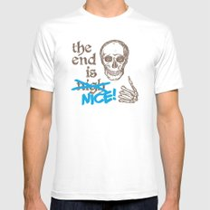 The End Is Nice White Mens Fitted Tee MEDIUM