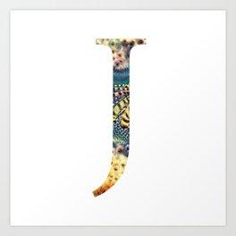 "Initial letter ""J"" Art Print"