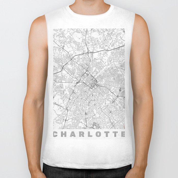 Charlotte Map Line Biker Tank