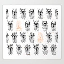Cicada Army Rising Art Print