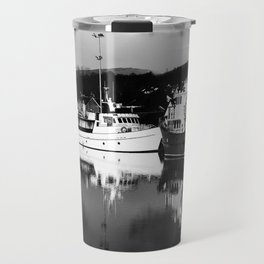 Boats on the Canal Travel Mug