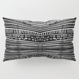 Linocut Tribal Pattern Pillow Sham