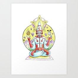 Star Clown Warlock Art Print