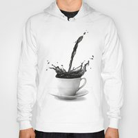 coffe Hoodies featuring Coffee by Thubakabra