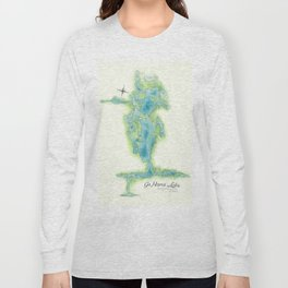 Go Home Lake - Nature Map Long Sleeve T-shirt