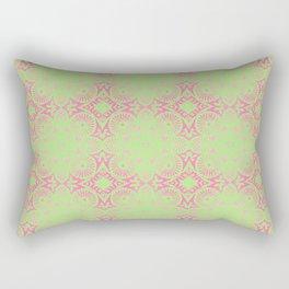 flower power: raspberry & lime Rectangular Pillow