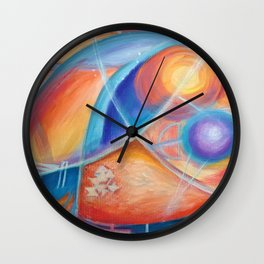 faraway worlds. mundos distantes Wall Clock