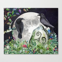 Raven Moon Magick Canvas Print