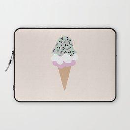 Leopard Ice Cream cone animal print summer trend girls pink peach Laptop Sleeve