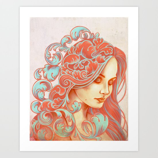 Filigree Face Art Print