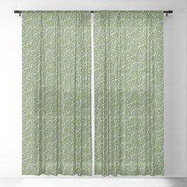 Pattern zero-two-nine Sheer Curtain