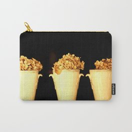 Three Flower Pots On A Black Background #decor #society6 Carry-All Pouch