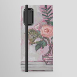 Pops of Hot Pink Florals Android Wallet Case