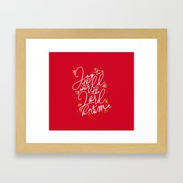 Joy to the World (Red) - Holiday Framed Art Print