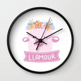 Llamour Llama Love Wall Clock