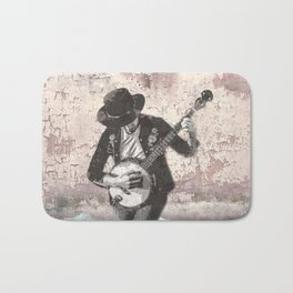 Spray Paint - Banjo Player Bath Mat