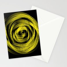 Neon Yellow Loop Illusion Stationery Cards