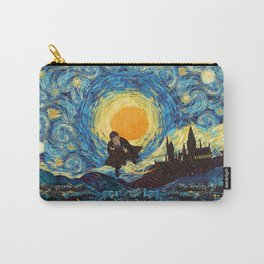 Flaying wizard starry night iPhone 4 5 6 7 8, pillow case, mugs and tshirt Carry-All Pouch