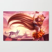 sailor venus Canvas Prints featuring Sailor Venus by Gladzy Kei