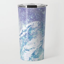 Celestial Guardian Angel Periwinkle Blue Travel Mug