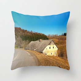 Traditional abandoned farmhouse | architectural photography Throw Pillow