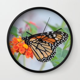 The Monarch Has An Angle Wall Clock