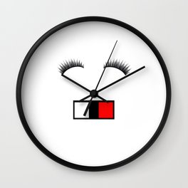 Make me up! Smile Wall Clock
