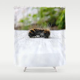 Wannabe Tiger (Fox Moth Caterpillar) Shower Curtain