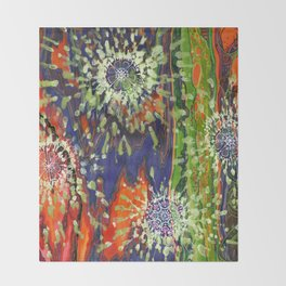 Induced Cosmic Revelations (Four Dreams, In Mutating Cycle) Throw Blanket